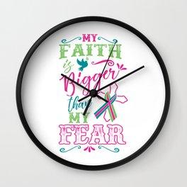Metastatic Breast Cancer Awareness Art For Women Light Wall Clock
