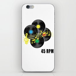 45 RPM Record Hipster LP iPhone Skin