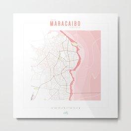 Map Chart #2 - MARACAIBO, ZULIA Metal Print