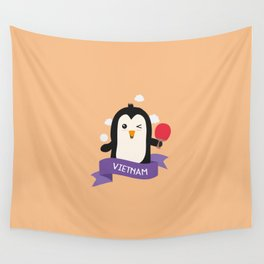 Penguin table tennis from VIETNAM T-Shirt Wall Tapestry