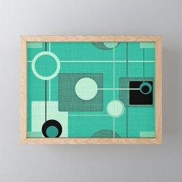 Orbs and Squares (aqua) Framed Mini Art Print