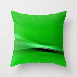 Green Blur Throw Pillow