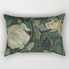 "Vincent Van Gogh ""Roses"" Rectangular Pillow"