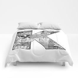 Cutout Letter K Comforters