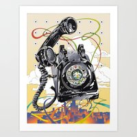 technology Art Prints featuring Ancient Technology by David Chestnutt