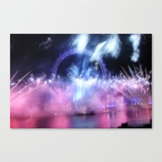New Year's Eve at London Eye Canvas Print