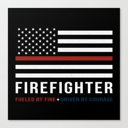 Fueled By Fire (Thin Red Line) Canvas Print
