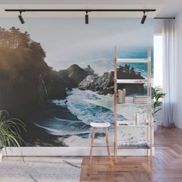 Cliff, Wave, and Beach Wall Mural