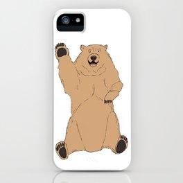 Waving Bear iPhone Case