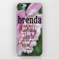 scripture iPhone & iPod Skins featuring Brenda scripture by KimberosePhotography