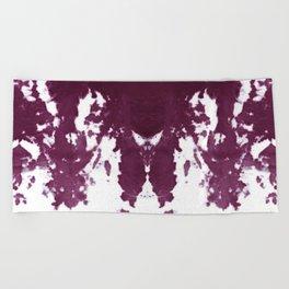 Velvet Kumo Shibori Plum Beach Towel
