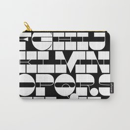Alphabet Black & White Carry-All Pouch