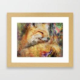 Funtastic Mrs. Fox Framed Art Print