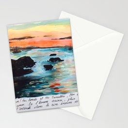Baudelaire et la mer Stationery Cards