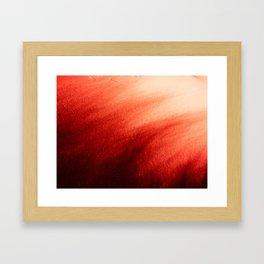 Indefinite Red Framed Art Print