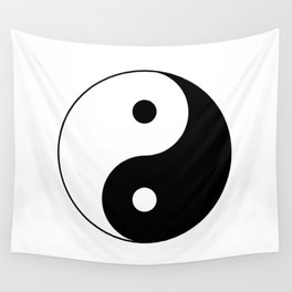 Black and White Yian Yang Wall Tapestry