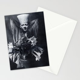 Statue and Flower Stationery Cards