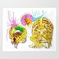 Breakfast Innuendo   Art Print