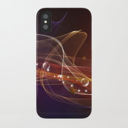 Abstract lines iPhone Case