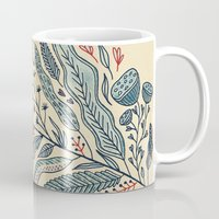 leaf Mugs featuring Turning Over A New Leaf by Monica Gifford