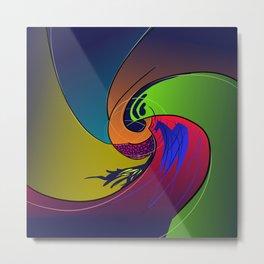 Color Swirl Metal Print