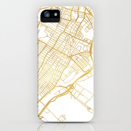 JERSEY CITY NEW JERSEY STREET MAP ART iPhone Case