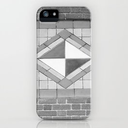 Black and white Ithaca's train station iPhone Case