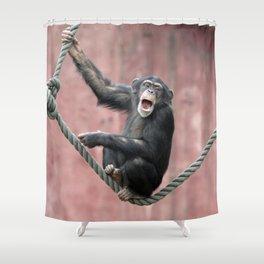 Chimpanzee_001_by_JAMFoto Shower Curtain