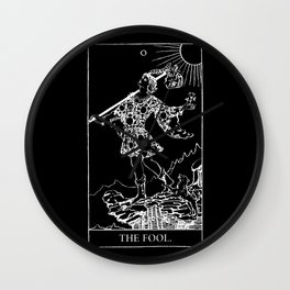0. The Fool- White Line Tarot Wall Clock