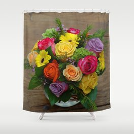 A Touch of Elegance Floral Arrangement Shower Curtain