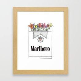 Smoking is pretty Framed Art Print