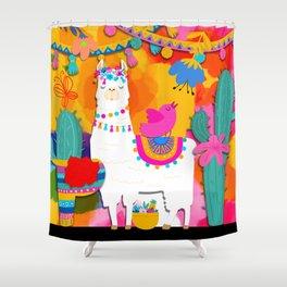 Fiesta Llama Shower Curtain