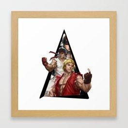 Youtriangle ∆ Street Fighter Framed Art Print
