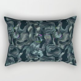 Neon glitch seamless pattern Rectangular Pillow