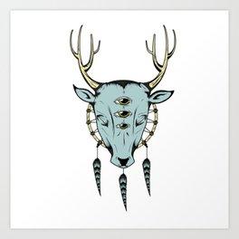 The cosmic deer Art Print