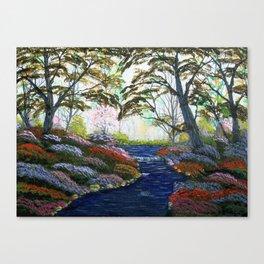 Peaceful Spring Stream Canvas Print