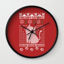 MEOWY CATMAS Wall Clock