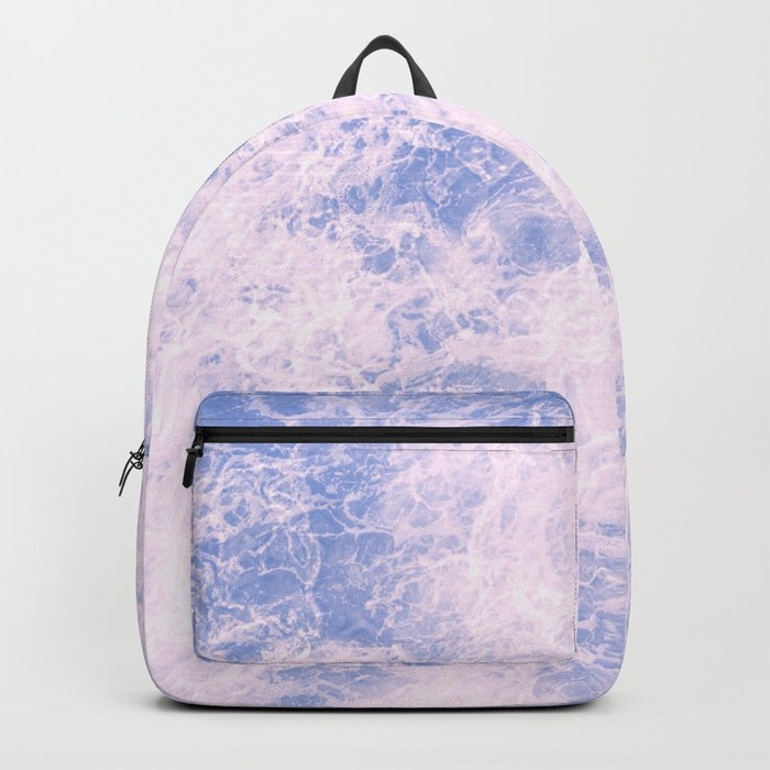 Pink and blue abstract pattern Backpack