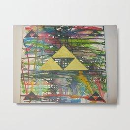 Tri Force Crayon Art Metal Print