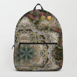 Beautiful white gum blossom mandala Backpack