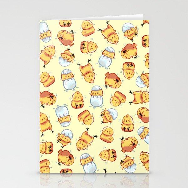 Chick pattern Stationery Cards