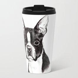 Boston Terrier Portrait Travel Mug