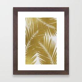Palm Leaf Gold III Framed Art Print