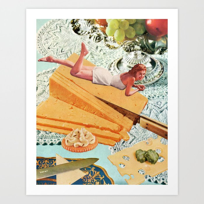 Money Can't Buy You Happiness, But It Can Buy You Cheese Kunstdrucke