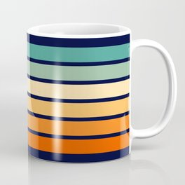 Marynda - Classic Colorful 70s Vintage Style Retro Summer Stripes Coffee Mug