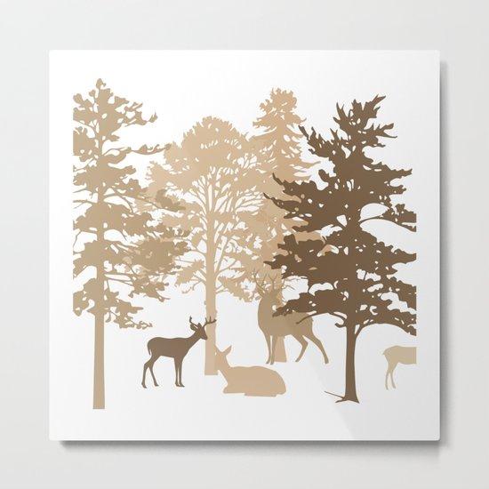 Morning Deer In The Woods No. 2 Metal Print