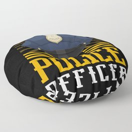 Police Cop Officer Sheriff Crime Patrol Floor Pillow