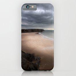 Stormy Three Cliffs Bay iPhone Case