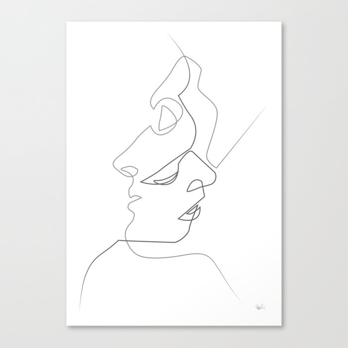 Close on white Canvas Print