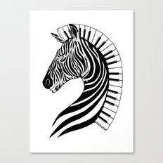 Zebra Clef Canvas Print